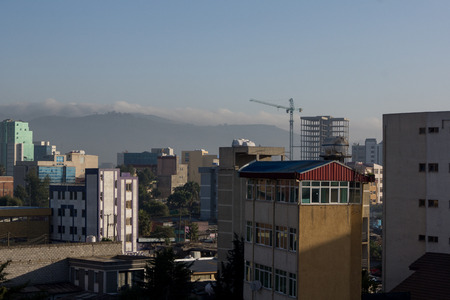 ababa: photo of streets and buildings of ethiopia capital