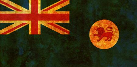 tasmania: old vintage flag of tasmania region of australia