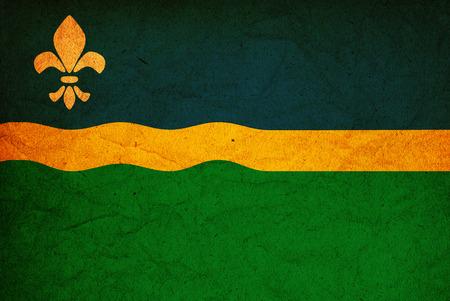 flevoland: old vintage flag of flevoland region in netherlands Stock Photo