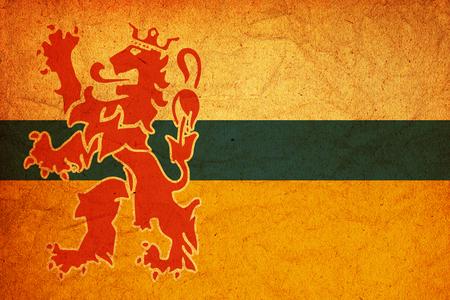 limburg: old vintage flag of limburg region in netherlands