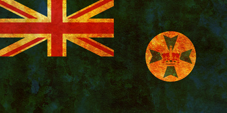 queensland: old vintage flag of queensland region of australia