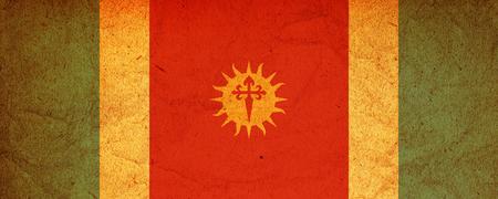 santiago: old vintage flag of one of administrative divisions of argentina called santiago del estero