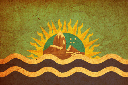santa cruz: old vintage flag of one of administrative divisions of argentina called santa cruz