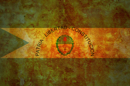 corrientes: old vintage flag of one of administrative divisions of argentina called corrientes
