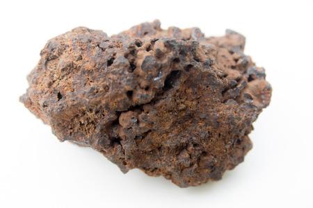 mineralogy: macro photo of plutonic rock isolated over white