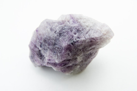 fluorite: macro photo of fluorite isolated over white