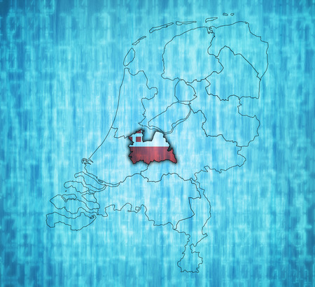 provinces: utrech flag on map with borders of provinces in netherlands