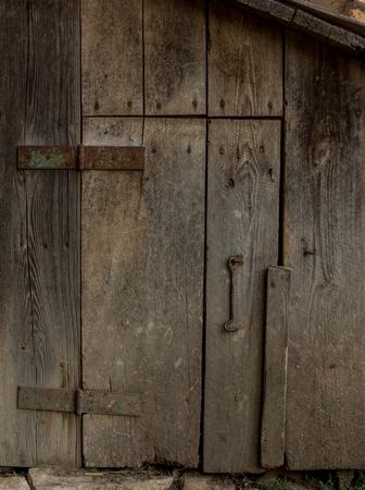 graining: detailed macro photo of old wooden door Stock Photo