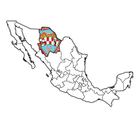 Modern Map Chihuahua Mexico MX Illustration Stock Photo Picture