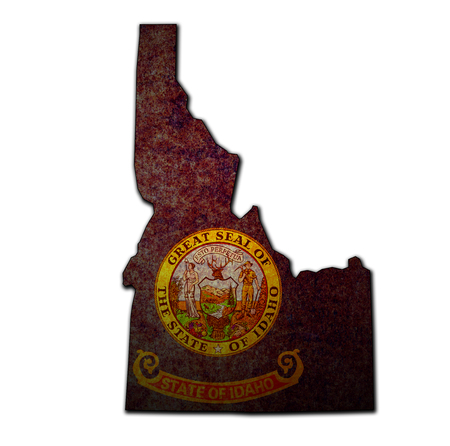 territory of Idaho state isolated from other states of USA Imagens