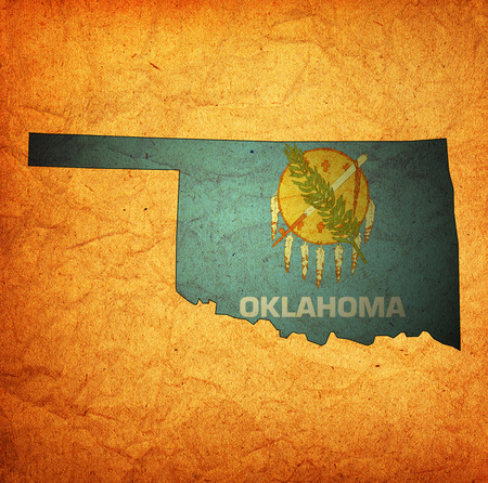 territory of Oklahoma state isolated from other states of USA