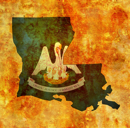 territory of Louisiana state isolated from other states of USA