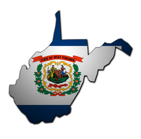 territory of West Virginia state isolated from other states of USA