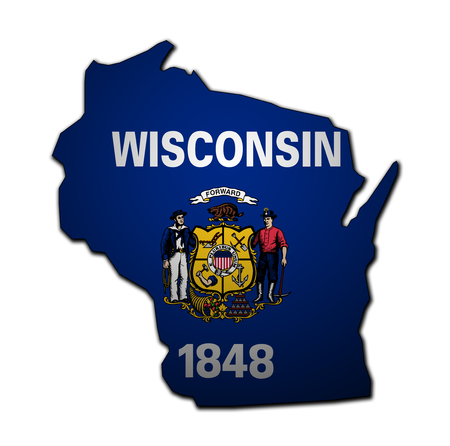 territory of Wisconsin state isolated from other states of USA