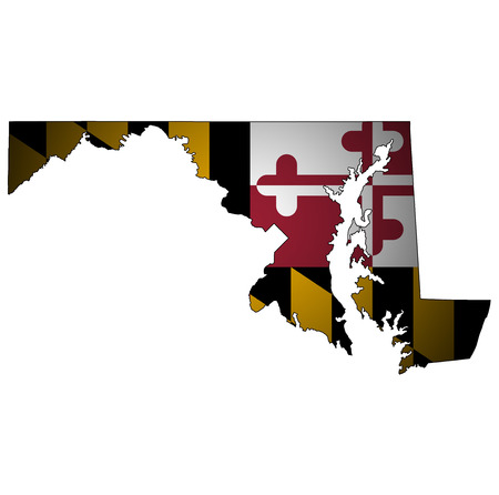 territory of maryland state isolated from other states of USA Reklamní fotografie - 121160954