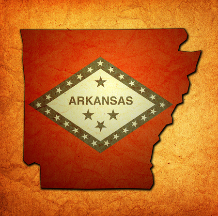 territory of Arkansas state isolated from other states of USA Archivio Fotografico