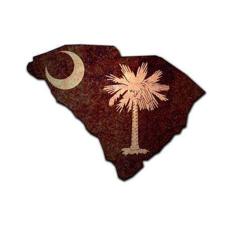 territory of South Carolina state isolated from other states of USA 写真素材