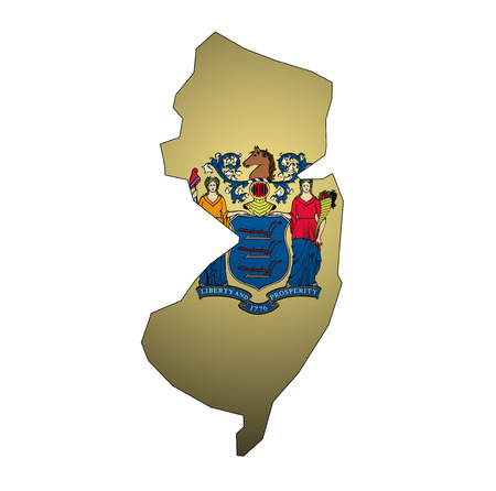 territory of New Jersey state isolated from other states of USA