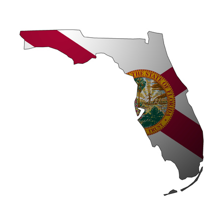 territory of Florida state isolated from other states of USA