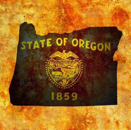 territory of Oregon state isolated from other states of USA