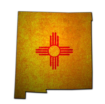 territory of New Mexico state isolated from other states of USA