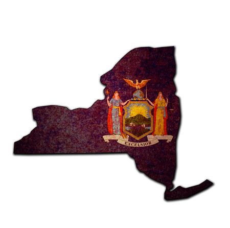 territory of New York state isolated from other states of USA