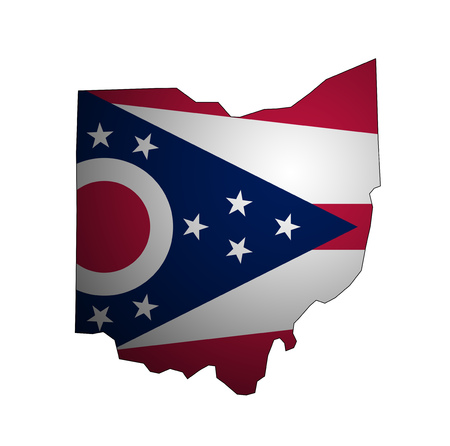 territory of Ohio state isolated from other states of USA