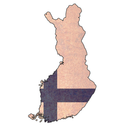 territories of finnish regions on map of administrative divisions of Finland