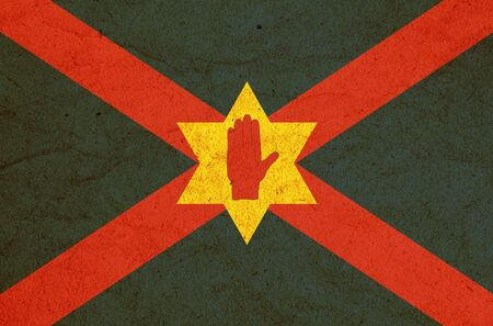 old vintage unofficial flag of the Ulster Nation of Northern Ireland
