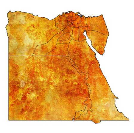 territories and borders of egyptian governorates on outline map of egypt administrative divisions 版權商用圖片 - 129348379