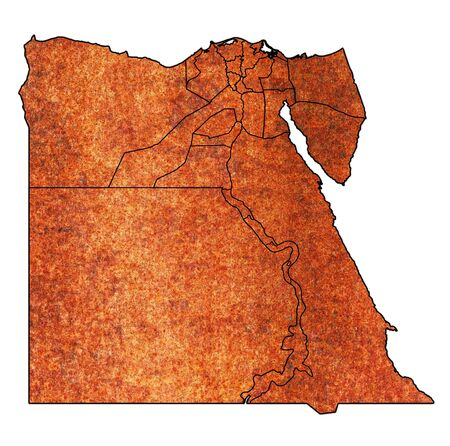 territories and borders of egyptian governorates on outline map of egypt administrative divisions
