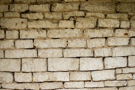close up of an old wall made from limestone Stock Photo