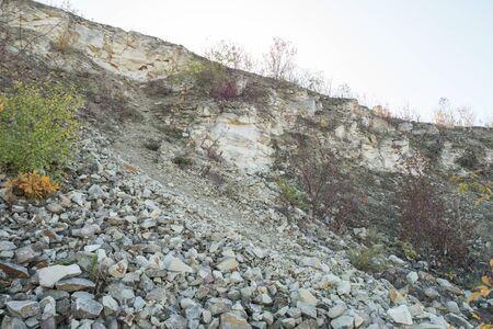 closed limestone quarry in Kazimierz Dolny in Poland Stock Photo - 132054362