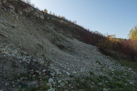 closed limestone quarry in Kazimierz Dolny in Poland Stock Photo - 132054913