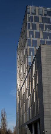 detail of a sky scraper office building