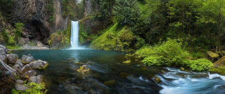 Toketee Falls is a waterfall in Douglas County, Oregon, United States.
