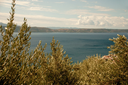 Adriatic Sea, view from Igrane, Dalmatia, Croatia photo