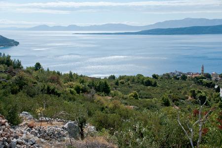Adriatic Sea, view from Igrane, Dalmatia, Croatia photo