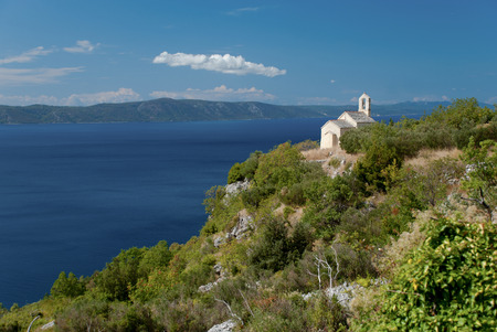headland: Old church in Igrane, Dalmatia, Croatia