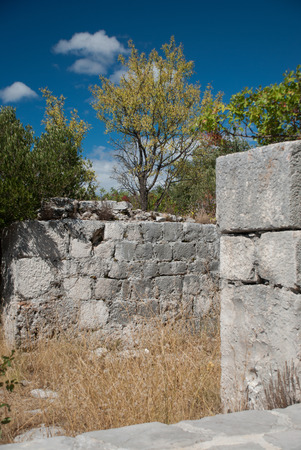 Далмация: Old Ruin in Igrane, Dalmatia, Croatia