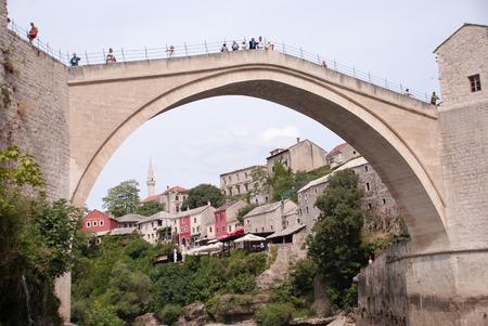 hercegovina: Famous Old Bridge in Mostar, Bosnia and Hercegovina
