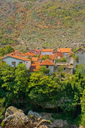 hercegovina: Mostar, river Neretva, Bosnia and Hercegovina Stock Photo