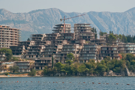 archtecture: Tourist resort under construction in Budva, Montenegro