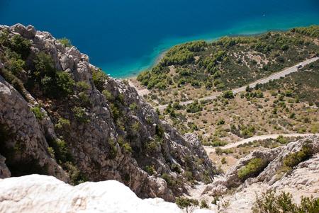 Beautiful hill and Adriatic Sea in Dalmatia, Croatia photo