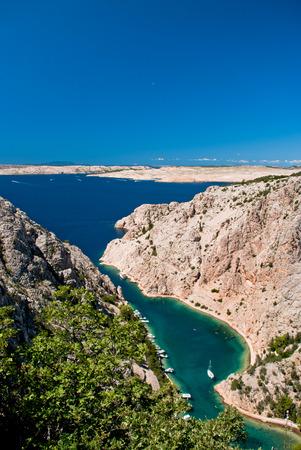 Zavratnica - beautiful beach with clear water in Dalmatia, Croatia Zdjęcie Seryjne