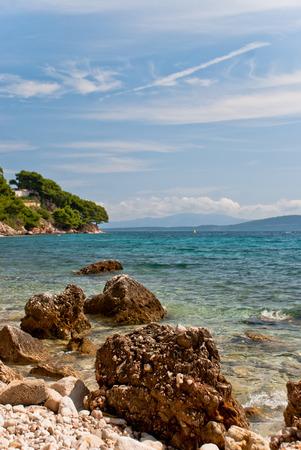Photo of beautiful Adriatic Sea in Dalmatia, Croatia