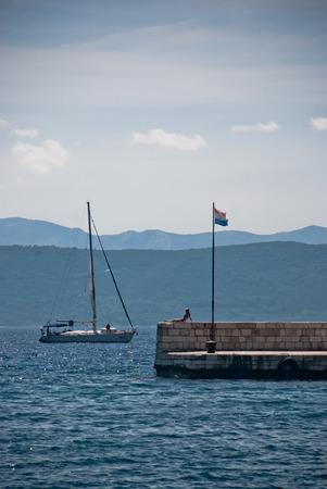 dalmatia: Sailing boat on Adriatic Sea, Dalmatia, Croatia