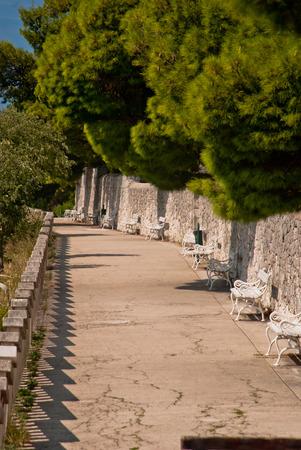 split road: Photo of path to the Marjan hill, Split, Dalmatia, Croatia