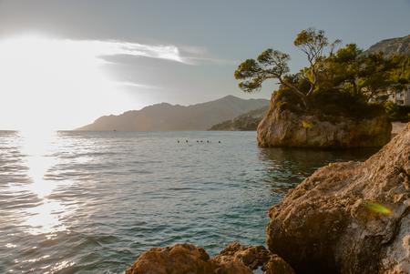 riviera: Photo of famous rock in Brela, Makarska Riviera, Croatia
