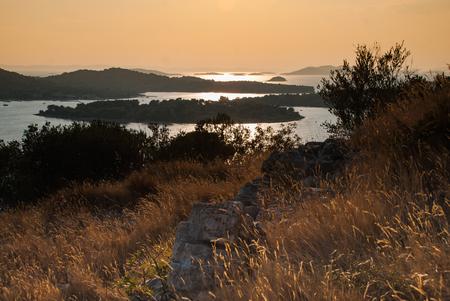 kornati: Photo of sunset over Kornati Islands, Murter, Croatia